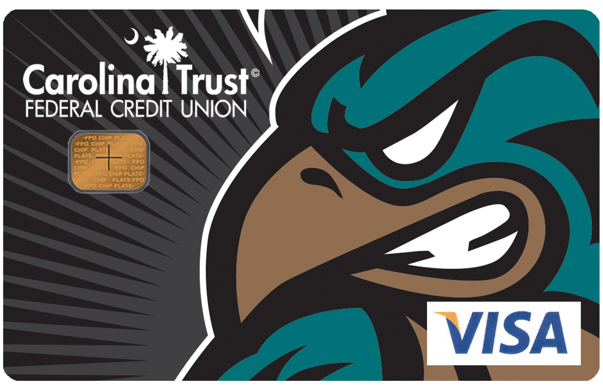 CCU Athletics Card Football Design