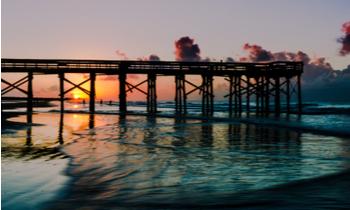 Sunset over Isle of Palms, South Carolina