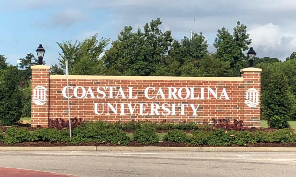 Sign as you enter Coastal Carolina University Campus